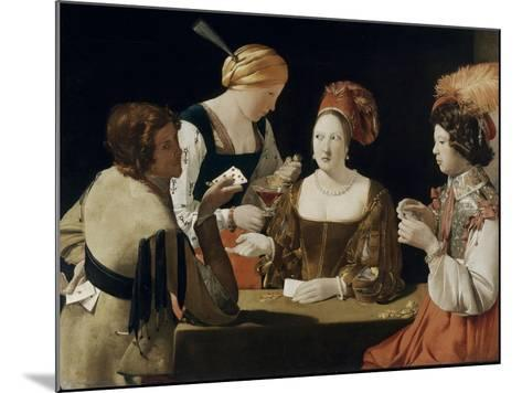Le Tricheur à l'as de carreau-Georges de La Tour-Mounted Giclee Print