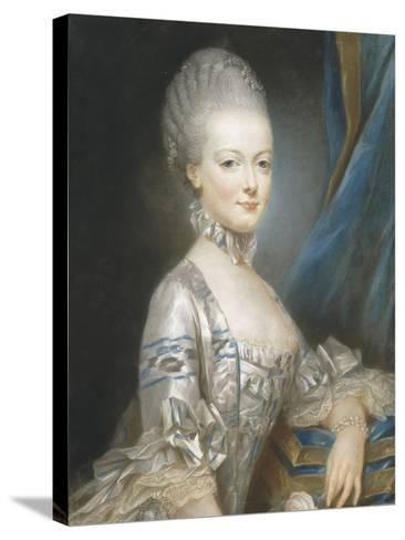 Marie-Antoinette de Lorraine-Habsbourg (1755-1793), alors archiduchesse d'Autriche en 1769-Joseph Ducreux-Stretched Canvas Print