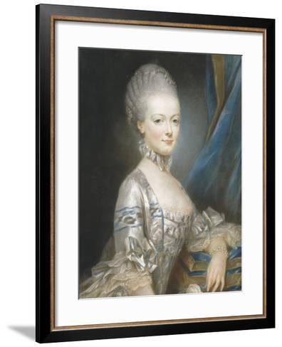 Marie-Antoinette de Lorraine-Habsbourg (1755-1793), alors archiduchesse d'Autriche en 1769-Joseph Ducreux-Framed Art Print