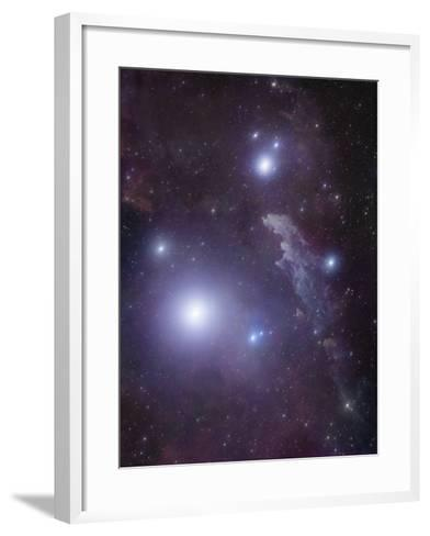 Supergiant Rigel and IC 2118 in Eridanus, Cederblad 41, the Witch Head Nebula-Stocktrek Images-Framed Art Print