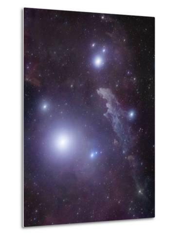 Supergiant Rigel and IC 2118 in Eridanus, Cederblad 41, the Witch Head Nebula-Stocktrek Images-Metal Print