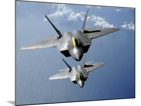 Two F-22 Raptors Fly over the Pacific Ocean-Stocktrek Images-Mounted Photographic Print