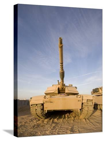 M1 Abrams Tank at Camp Warhorse-Stocktrek Images-Stretched Canvas Print