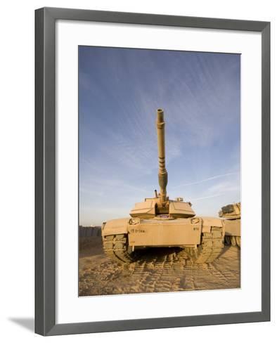 M1 Abrams Tank at Camp Warhorse-Stocktrek Images-Framed Art Print