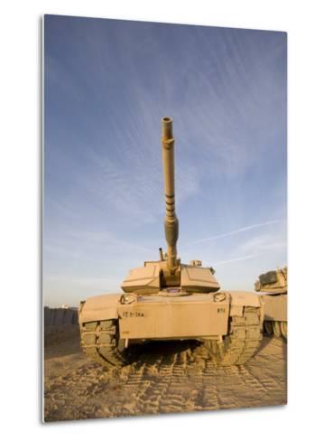 M1 Abrams Tank at Camp Warhorse-Stocktrek Images-Metal Print