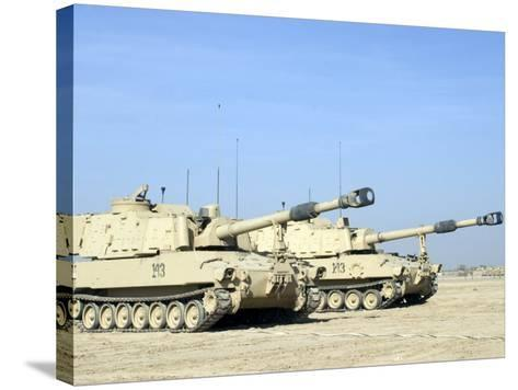 M109 Paladin, a Self-Propelled 155mm Howitzer-Stocktrek Images-Stretched Canvas Print