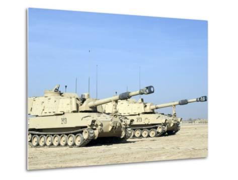 M109 Paladin, a Self-Propelled 155mm Howitzer-Stocktrek Images-Metal Print