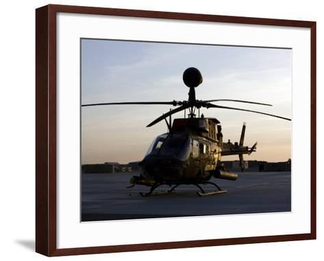 OH-58D Kiowa During Sunset-Stocktrek Images-Framed Art Print