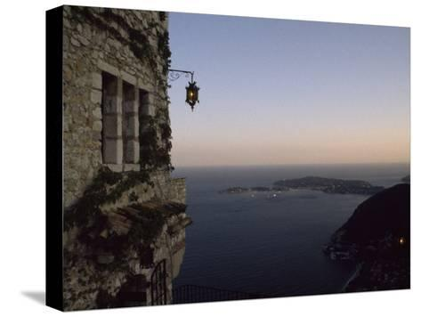 Twilight View of Small Islands and Hilly Shoreline of Eze, France-Marcia Kebbon-Stretched Canvas Print