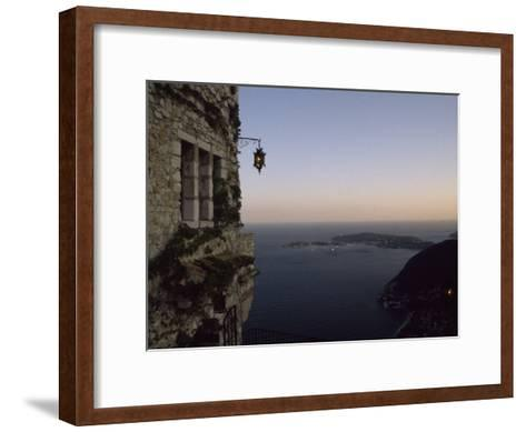 Twilight View of Small Islands and Hilly Shoreline of Eze, France-Marcia Kebbon-Framed Art Print