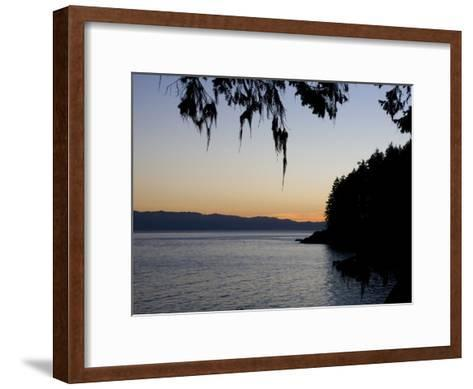 Sunset on the Pacific Coast of Vancouver Island, Sooke, British Columbia, Vancouver Island, Canada-Taylor S^ Kennedy-Framed Art Print