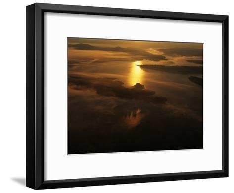 Aerials in Arkansas of the Buffalo River, Arkansas-Randy Olson-Framed Art Print