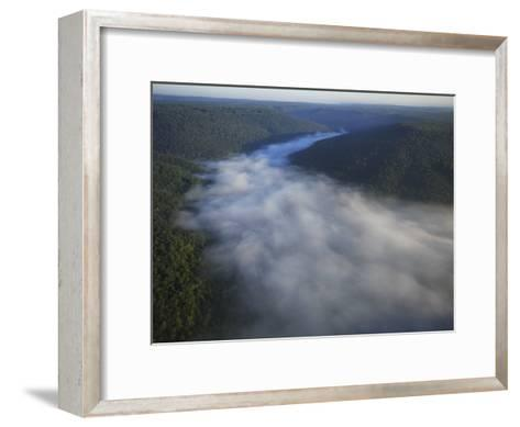 Mist Rises from the Gorge of Lost Cove, Lost Cove, Sewanee, Tennessee, USA-Stephen Alvarez-Framed Art Print