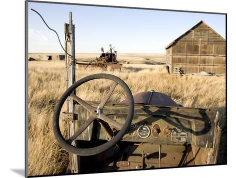Abandoned Car and Farmstead Near White Bear, Saskatchewan, Canada-Pete Ryan-Mounted Photographic Print