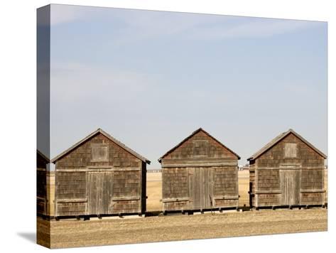 Exterior View of Old Granaries, Saskatchewan, Canada-Pete Ryan-Stretched Canvas Print