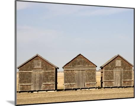 Exterior View of Old Granaries, Saskatchewan, Canada-Pete Ryan-Mounted Photographic Print