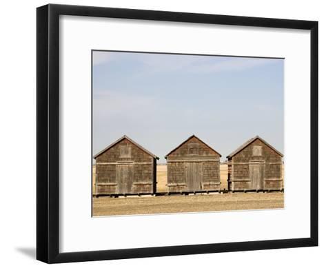Exterior View of Old Granaries, Saskatchewan, Canada-Pete Ryan-Framed Art Print