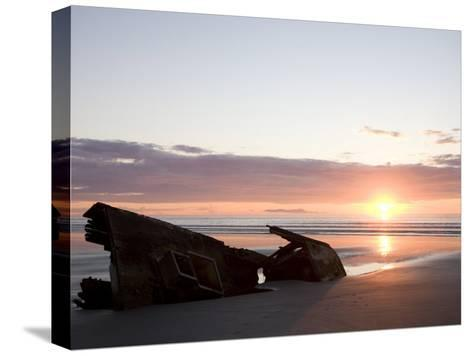 Ship Slowly Rots on the Beach, Queen Charlotte Islands, British Columbia, Canada-Taylor S^ Kennedy-Stretched Canvas Print