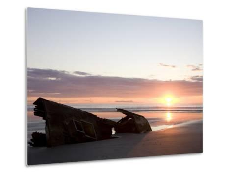 Ship Slowly Rots on the Beach, Queen Charlotte Islands, British Columbia, Canada-Taylor S^ Kennedy-Metal Print