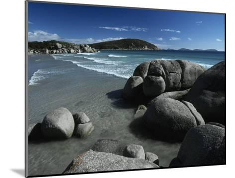 White, Rolling Surf Peels onto a Pristine Beach on a Summers Day-Jason Edwards-Mounted Photographic Print