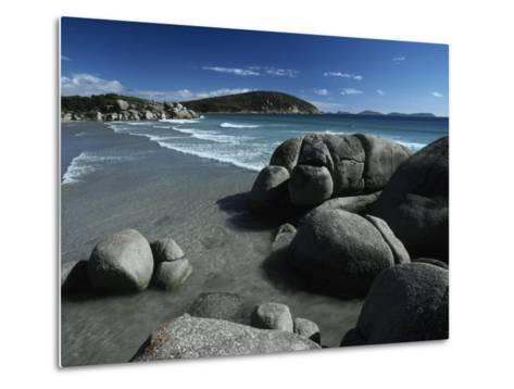 White, Rolling Surf Peels onto a Pristine Beach on a Summers Day-Jason Edwards-Metal Print