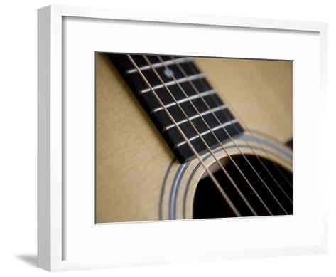 Close View of a Guitar, Annapolis, Maryland, United States-Taylor S^ Kennedy-Framed Art Print