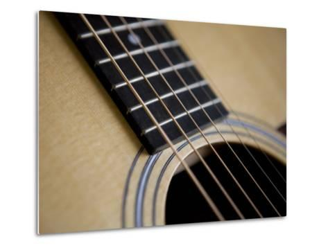 Close View of a Guitar, Annapolis, Maryland, United States-Taylor S^ Kennedy-Metal Print