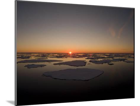 Beautiful Sunset over an Arctic Ice Field, Svalbard, Norway-Norbert Rosing-Mounted Photographic Print
