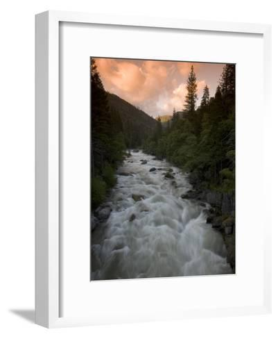 Late Afternoon on the Middle Fork of the Stanislaus River-Phil Schermeister-Framed Art Print