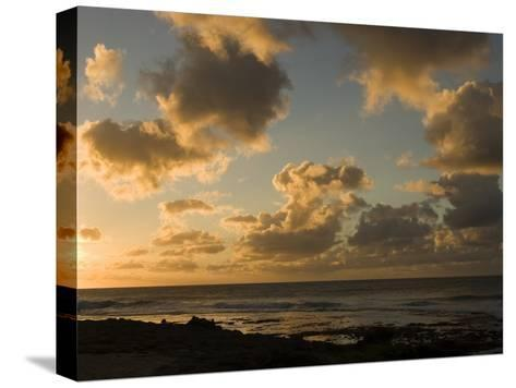 Sunset over Pacific Ocean in Hawaii, North Shore, Oahu Island, Hawaiian Islands-Charles Kogod-Stretched Canvas Print