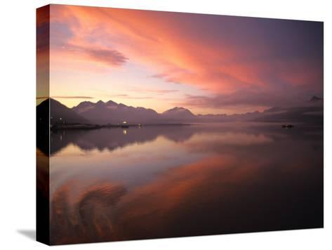 Sunrise in Valdez, Alaska-Michael S^ Quinton-Stretched Canvas Print
