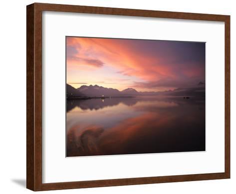 Sunrise in Valdez, Alaska-Michael S^ Quinton-Framed Art Print