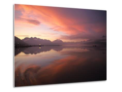 Sunrise in Valdez, Alaska-Michael S^ Quinton-Metal Print