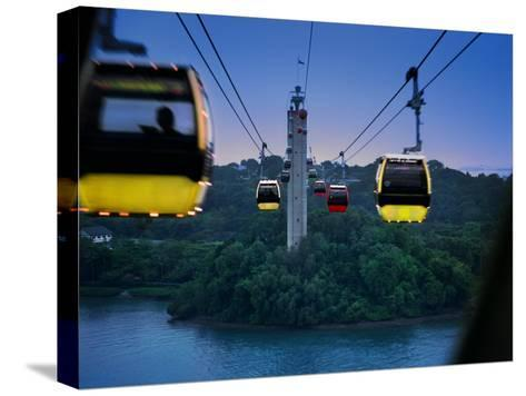 Cable Car to Sentosa Resort Island, a Popular Singaporean Place-xPacifica-Stretched Canvas Print