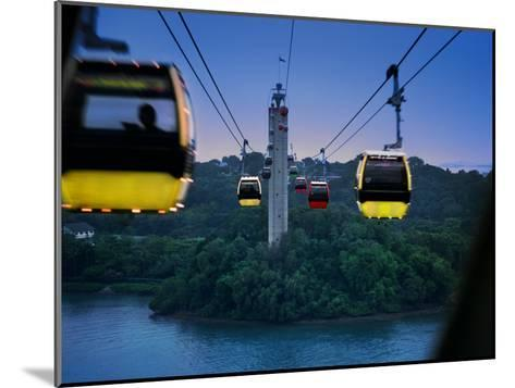 Cable Car to Sentosa Resort Island, a Popular Singaporean Place-xPacifica-Mounted Photographic Print