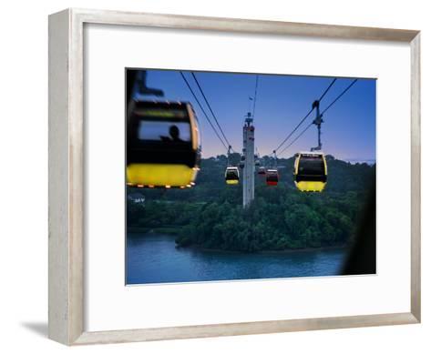 Cable Car to Sentosa Resort Island, a Popular Singaporean Place-xPacifica-Framed Art Print