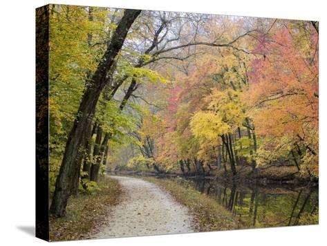 Towpath Along the Chesapeake and Ohio Canal One Autumn Day-Skip Brown-Stretched Canvas Print