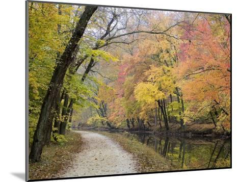 Towpath Along the Chesapeake and Ohio Canal One Autumn Day-Skip Brown-Mounted Photographic Print