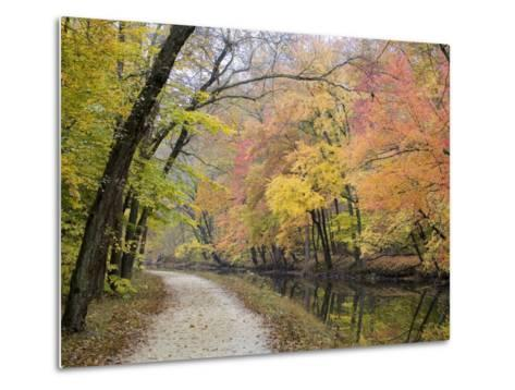 Towpath Along the Chesapeake and Ohio Canal One Autumn Day-Skip Brown-Metal Print