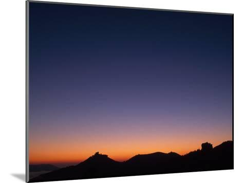 Dawn over Castle Trifels Near Town of Annweiler-Norbert Rosing-Mounted Photographic Print