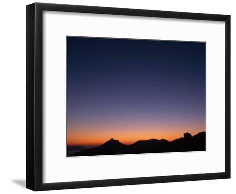 Dawn over Castle Trifels Near Town of Annweiler-Norbert Rosing-Framed Art Print