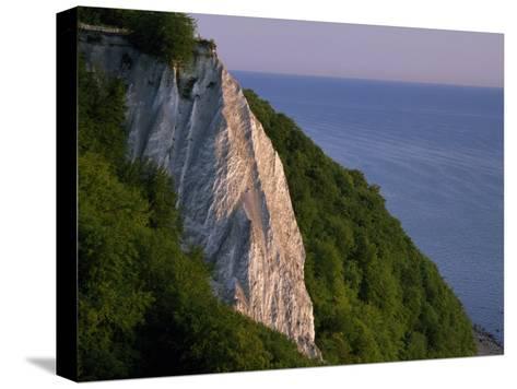Koenigstuhl Cliff Facing the Sea on Ruegen Island-Norbert Rosing-Stretched Canvas Print