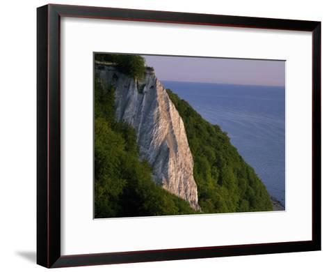 Koenigstuhl Cliff Facing the Sea on Ruegen Island-Norbert Rosing-Framed Art Print