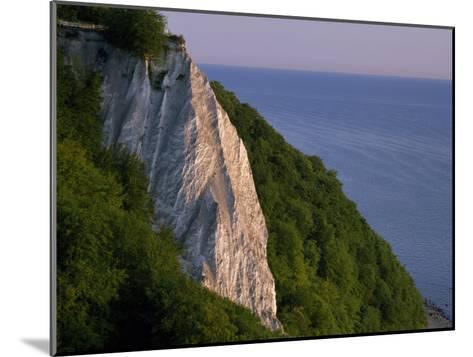 Koenigstuhl Cliff Facing the Sea on Ruegen Island-Norbert Rosing-Mounted Photographic Print