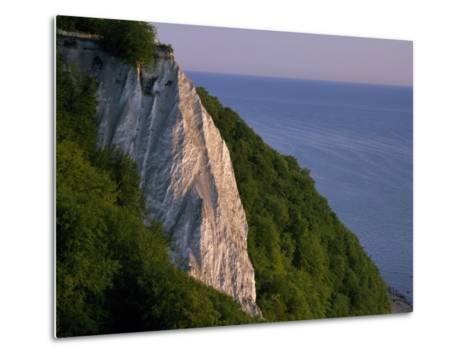 Koenigstuhl Cliff Facing the Sea on Ruegen Island-Norbert Rosing-Metal Print