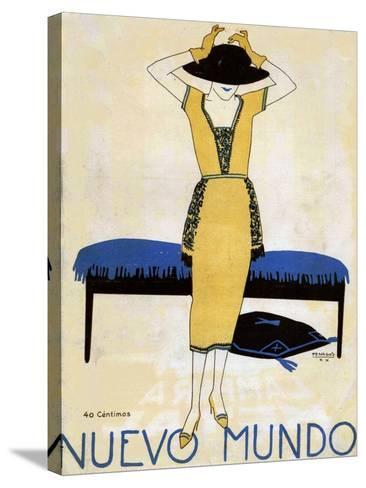 Nuevo Mundo, Magazine Cover, Spain, 1920--Stretched Canvas Print