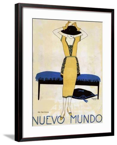 Nuevo Mundo, Magazine Cover, Spain, 1920--Framed Art Print