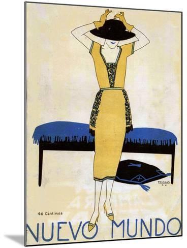 Nuevo Mundo, Magazine Cover, Spain, 1920--Mounted Giclee Print