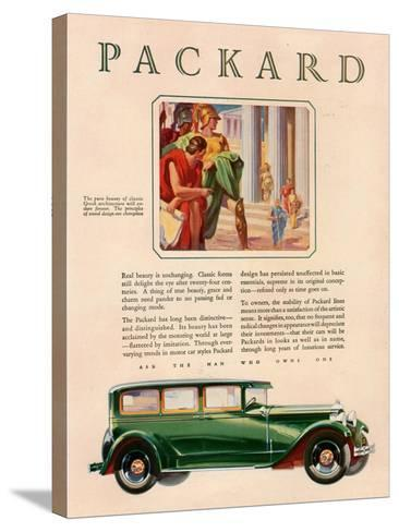 Packard, Magazine Advertisement, USA, 1929--Stretched Canvas Print