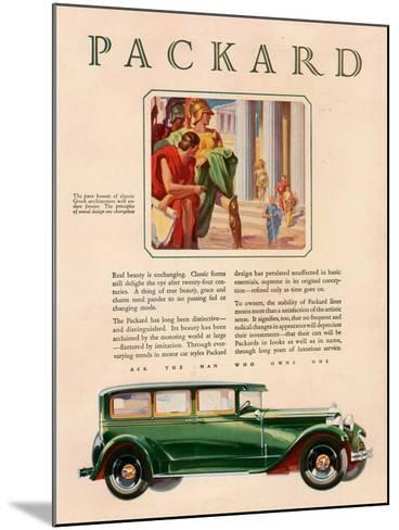 Packard, Magazine Advertisement, USA, 1929--Mounted Giclee Print